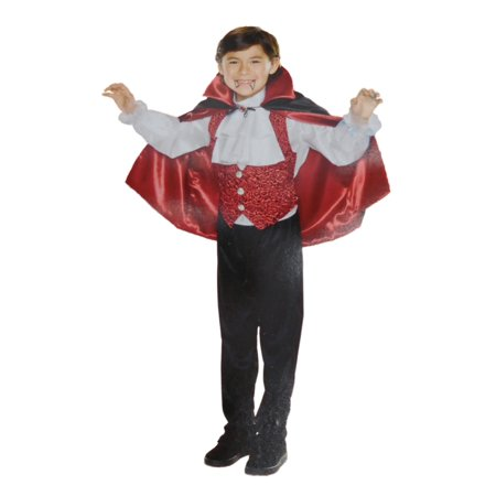 Boys Deluxe Vampire Count Dracula Child Halloween Costume - Count Dracula Costumes