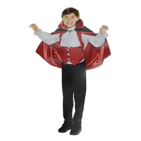Boys Deluxe Vampire Count Dracula Child Halloween Costume L8-10 (Halloween Stores Ct)