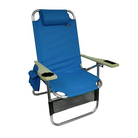 Marvelous Big Papa 4 Position Aluminum Folding Beach Chair W Pillow Cup Holder Caraccident5 Cool Chair Designs And Ideas Caraccident5Info