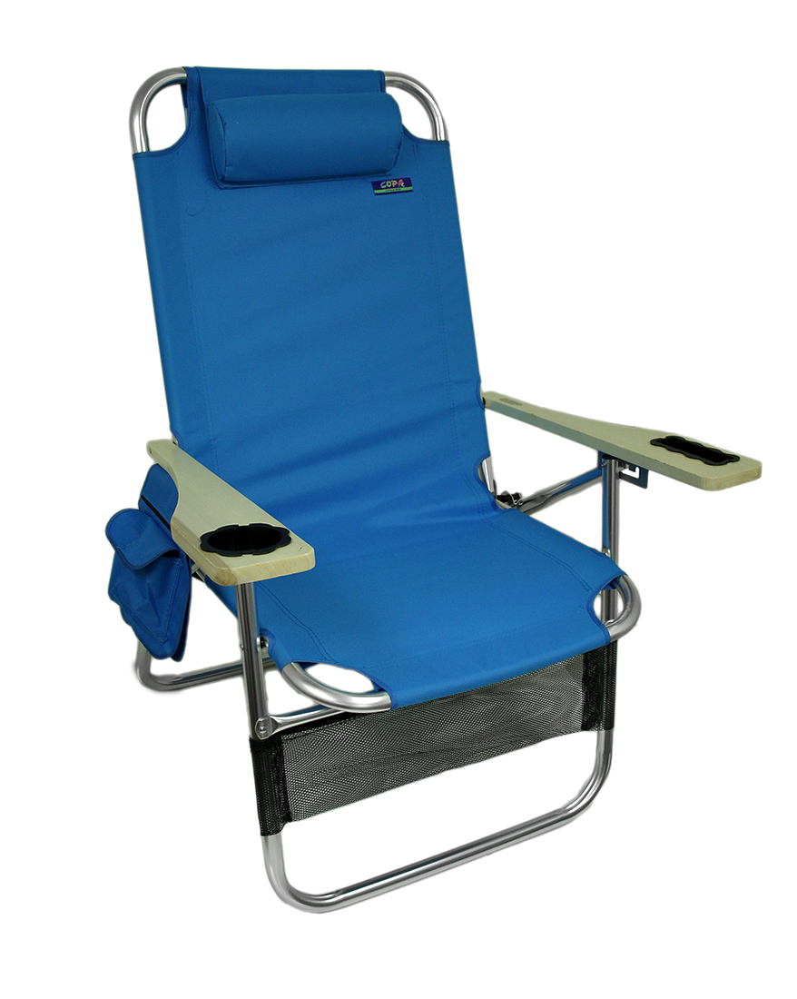 Big Papa 4 Position Aluminum Folding Beach Chair w/Pillow u0026 Cup Holder  sc 1 st  Walmart & Big Papa 4 Position Aluminum Folding Beach Chair w/Pillow u0026 Cup ...