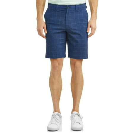 Men's Performance Plaid Active Flex Waistband 4-Way Stretch Golf Short ()