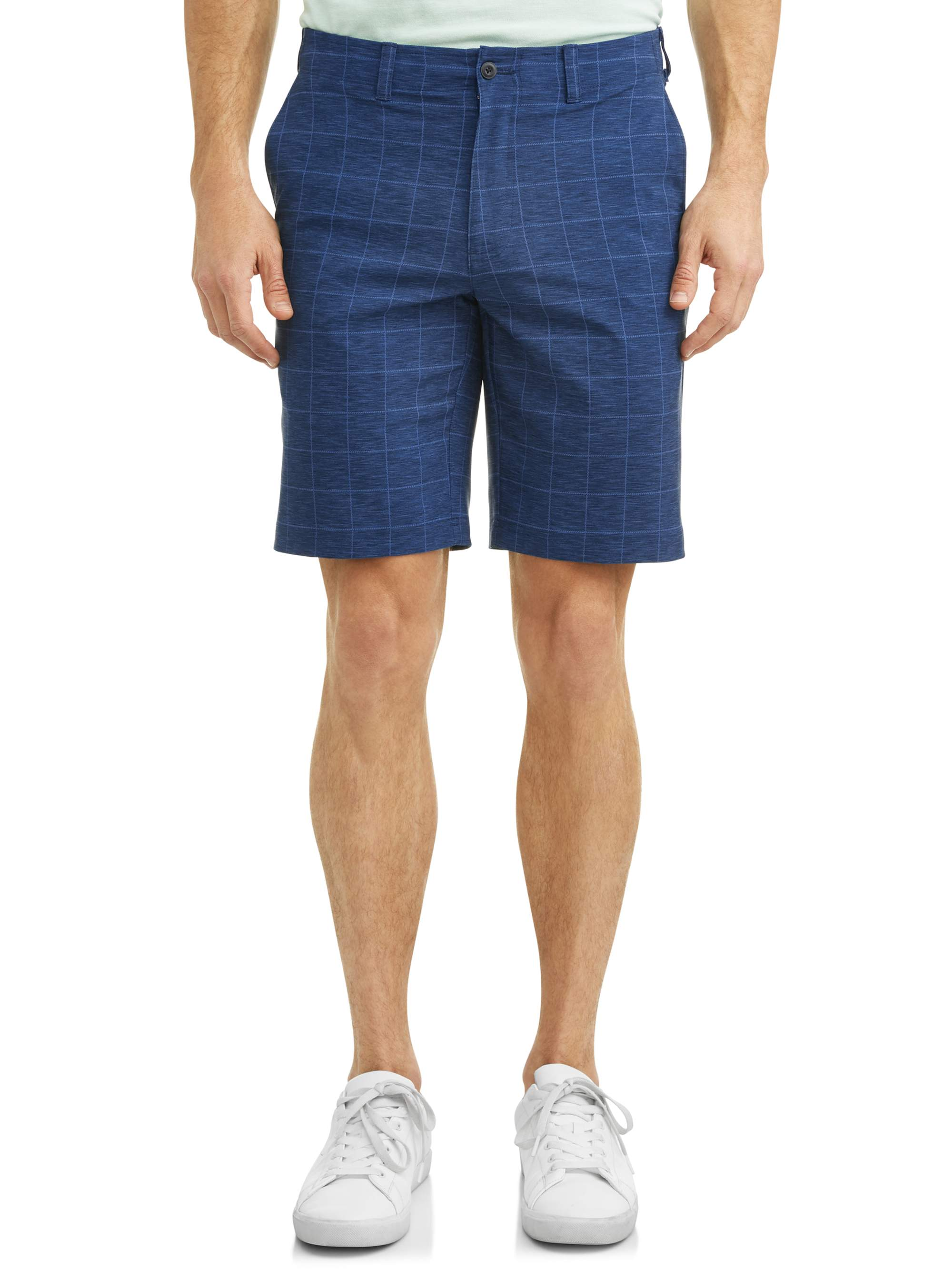 Men's Performance Plaid Active Flex Waistband 4-Way Stretch Golf Short