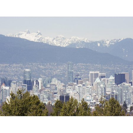 City Skyline and Mountains, Vancouver, British Columbia, Canada, North America Print Wall Art By Christian Kober - Halloween North Vancouver
