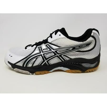 Asics Women's Gel 1130V Volleyball Shoe, WhiteBlackSilver, 7 B(M) US