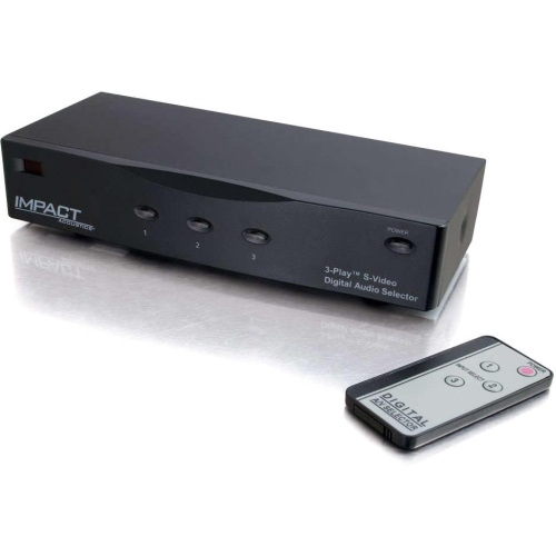 """""""C2G 28731 C2G 28731 3 Play Audio/Video Selector - Video Game Console, DVD Player, A/V Receiver, DVR, Home Theater Compatible - 3 x S-Video In, 3 x Toslink S/PDIF In, 6 x RCA"""