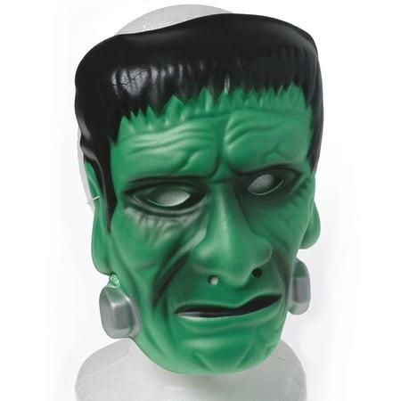 Kid Fun Foam Frankenstein's Monster Face Mask, Green Black, - Halloween Monster Masks
