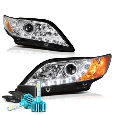 [For 2007-2009 Toyota Camry] LED Strip Projector Headlight Headlamp Assembly, Driver & Passenger Side (Toyota 4runner Driver Side Headlight)