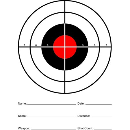 Red Sight In Paper Rifle And Pistol Shooting
