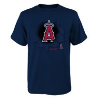 MLB Los Angeles ANGELS TEE Short Sleeve Boys OPP 100% Cotton Alternate Team Colors 4-18