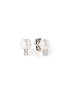 Classic 6MM Freshwater Pearl Accented Stud Earrings