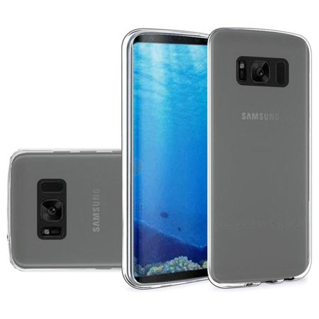 Crystal Clear Back Cover (Galaxy S8 Case, Premium Crystal Clear TPU Case Shock Absorption Cover TPU Rubber Gel Back Bumper for Samsung Galaxy S8 )