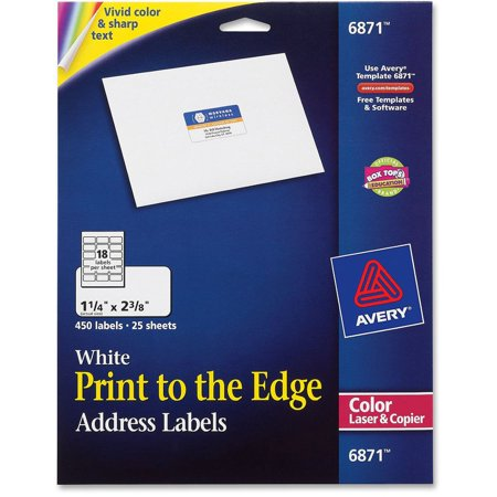 avery vibrant color printing address labels 1 1 4 x 2 3 8 white