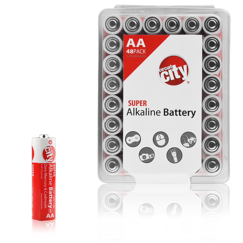 Essential Circuit City AA High Performance Alkaline Batteries (48 Pack)