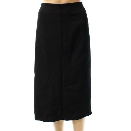 ALFANI Womens Black Tea Length A-Line Skirt  Size: 6