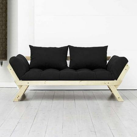 Fresh Futon Bebop Natural Wood Convertible Futon Sofa