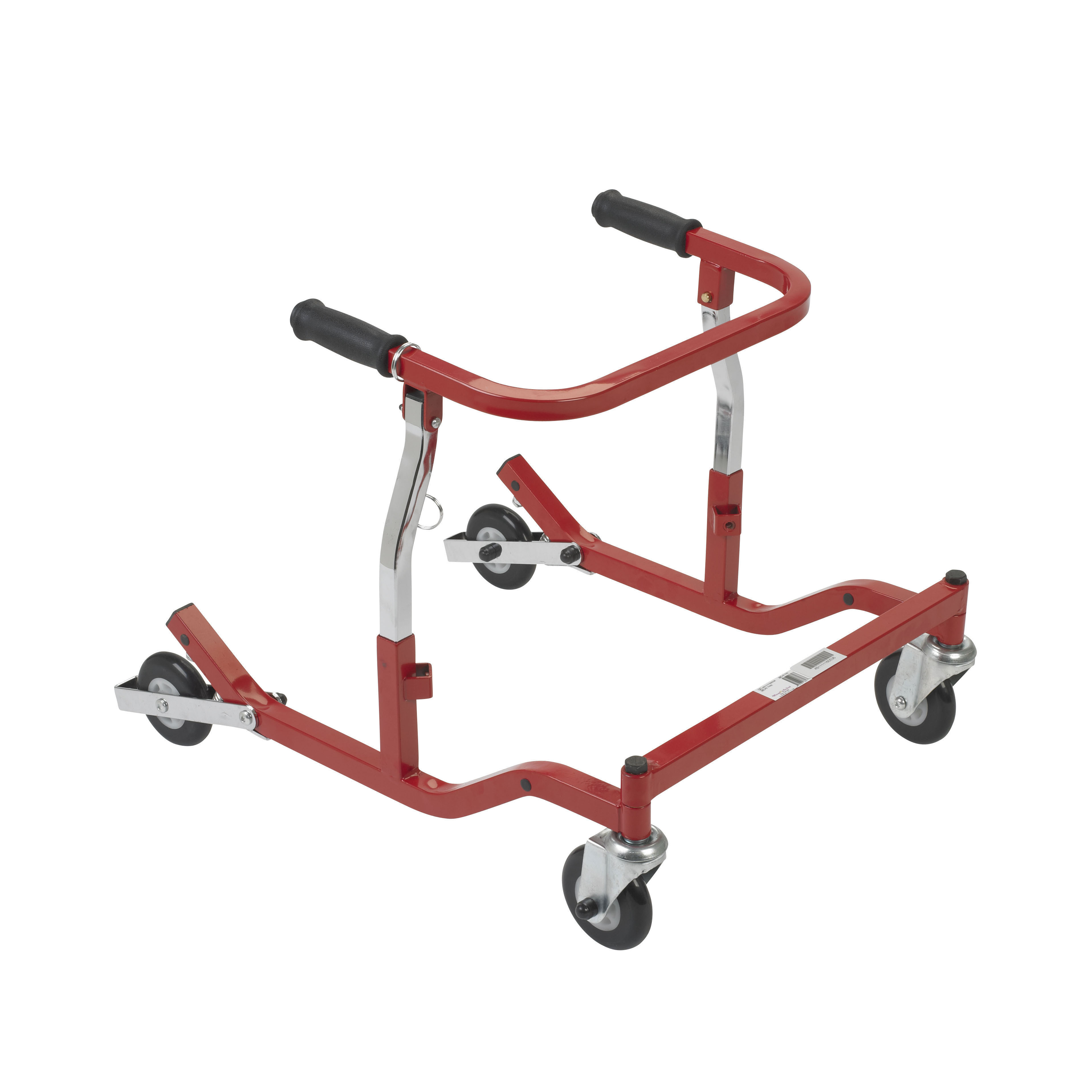 Drive Medical Anterior Rehab Safety Roller, Fixed Width, Tyke, Red