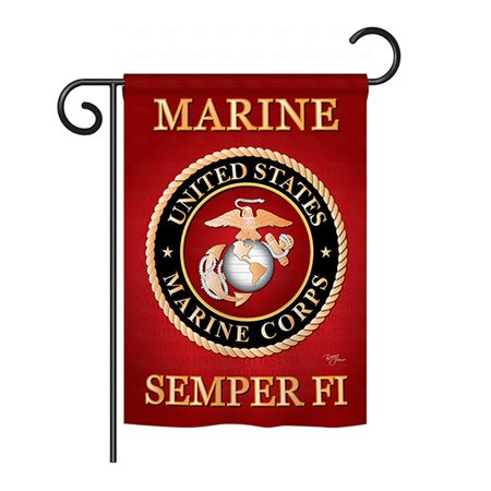 US Marine Corp 2 Sided Semper Fi Garden Flag