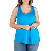 Women's Plus Size Round Hemline Plus Size Razorback Tank Top