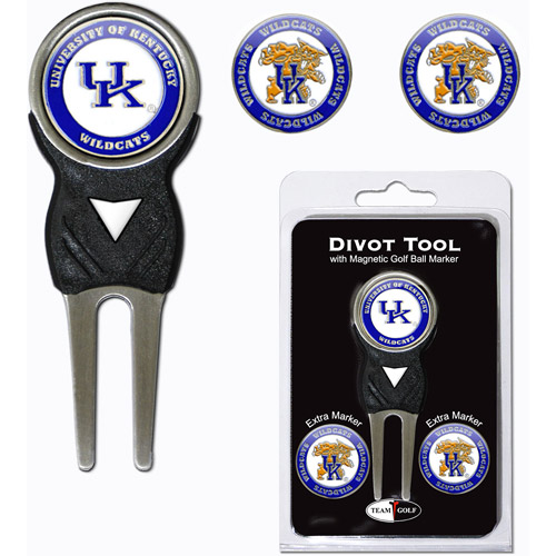 Team Golf NCAA Kentucky Divot Tool Pack With 3 Golf Ball Markers
