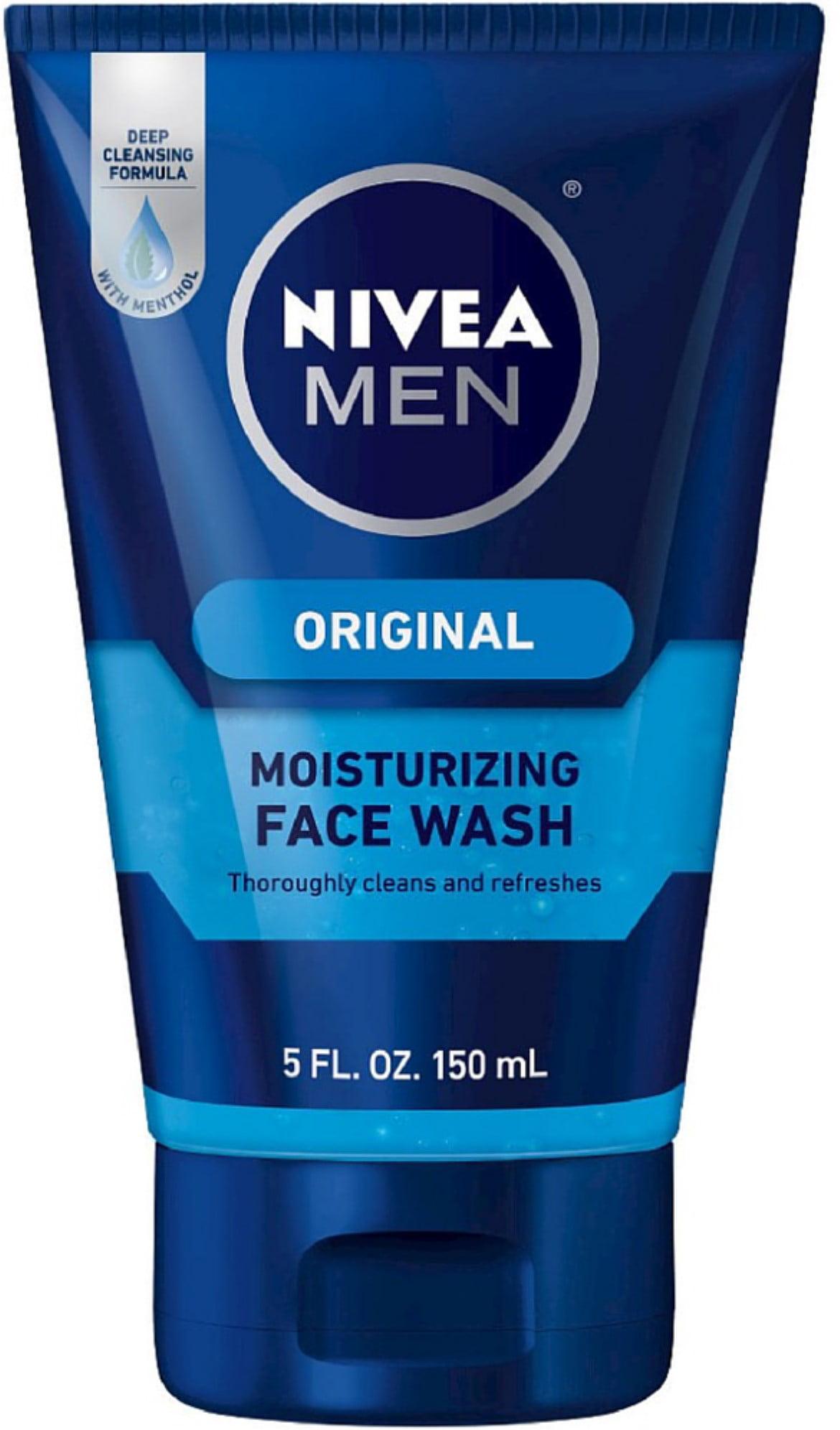 2 Pack - NIVEA FOR MEN Original Moisturizing Face Wash 5 oz Ren - No.1 Purity Cleansing Balm - 100ml/3.3oz