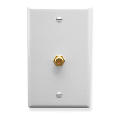 F-type Wall Plate (WALL PLATE- F-TYPE- WHITE )