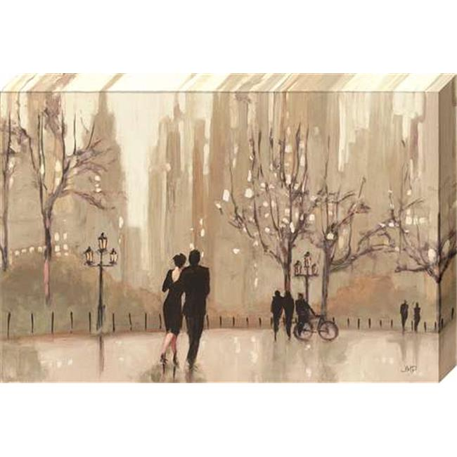 North American Art NC2053 12 x 19 in. An Evening Out Canvas Gallery Wrapped Art Print