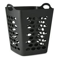 "Mainstays Flexible Black Laundry Hamper, 20"""