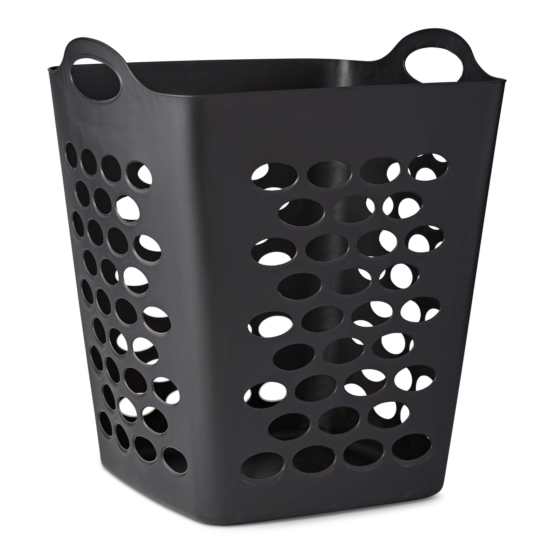 Mainstays Flexible Black Laundry Hamper, 20
