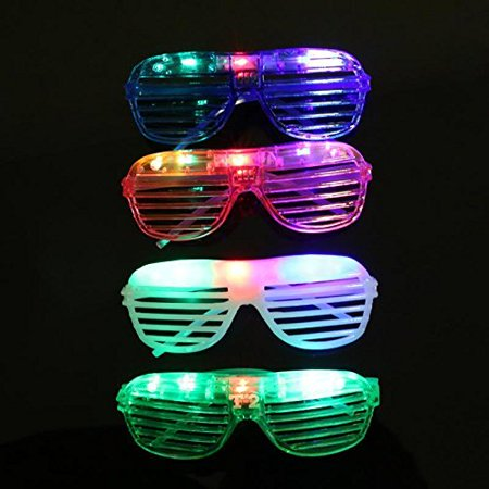 @ Kids/Adult Flashing LED Multi Color 'Slotted Shutter' Light Up Show Party Favor Toy Glasses (Colors May Vary), Fun Party Favors, Goodie Bag or Stocking Stuffers By Lvnv Toys - Stocking Stuffers For Kids