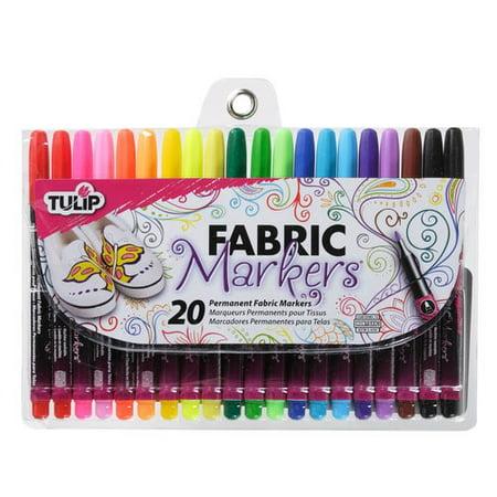 Tulip Fabric Markers, Multi-Colored, Fine, 20pk