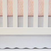 Oliver B White Scalloped Crib Skirt With