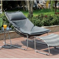 Contemporary 1Pc Patio Chair With 1Pc Ottoman