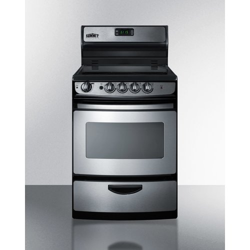 Summit Appliance Summit 24'' Free-standing Smooth-Top Electric Range