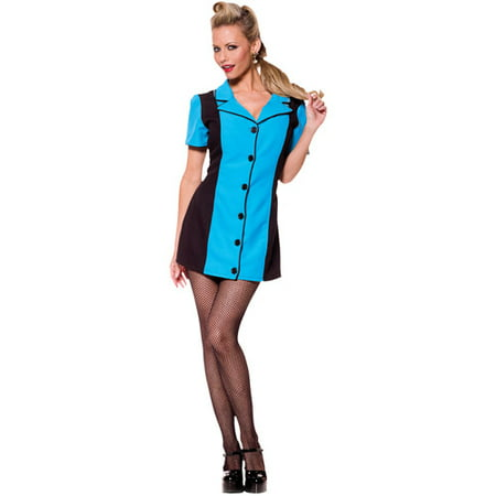 Turquoise Bowling Dress Adult Halloween Costume](Bowling Pins Halloween)