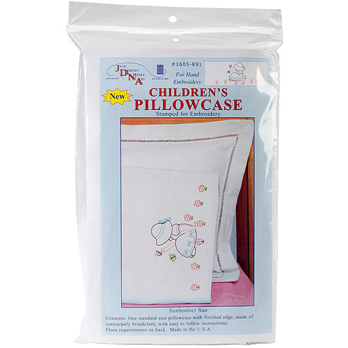 Children's Stamped Pillowcase with White Perle Edge, 1pk