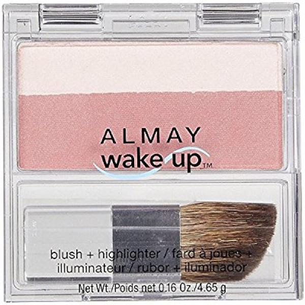 almay wake up blush and highlighter, berry, 0.16 ounce