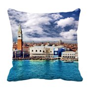 YKCG Travel Romantic Pleace Italy Veneia City Landscape Pillowcase Pillow Cushion Case Cover Twin Sides 18x18 inches