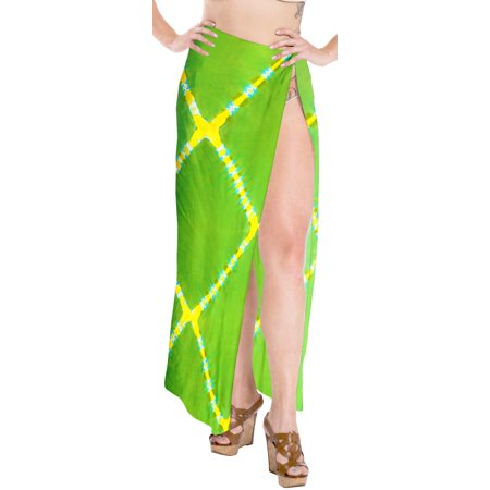 512e9ab3ec45d LA LEELA Rayon Tie Dye Beach Cover Up Swimsuit Swimwear Wrap Pareo Womens  Sarong