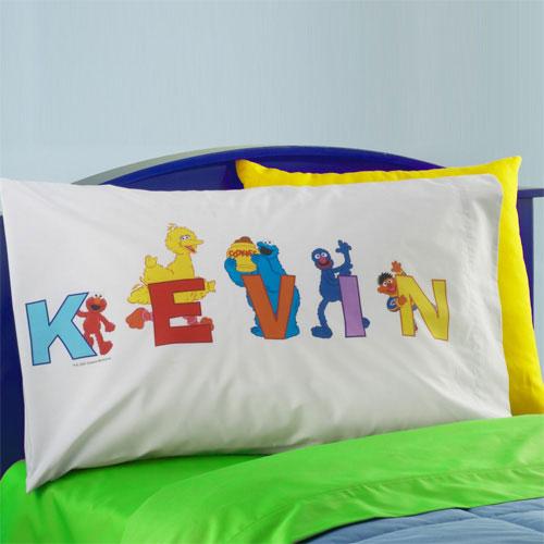 Personalized Sesame Street Alphabet Pillow Case