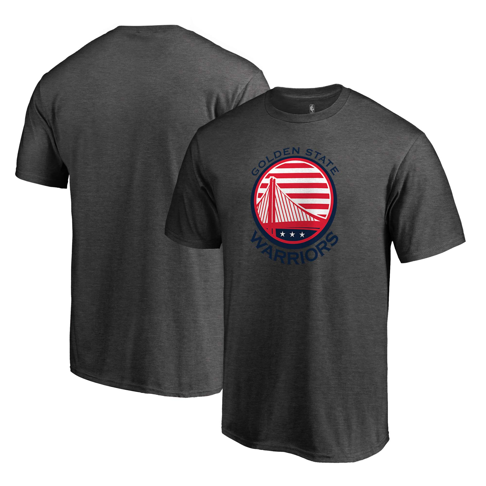 Golden State Warriors Fanatics Branded Hoops For Troops T-Shirt - Gray