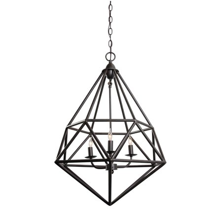 Varaluz - Facet - 3 Light Pendant - Forged Iron Finish
