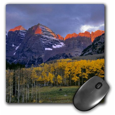 3dRose Colorado, Maroon Bells. Jagged mountain peaks - US06 RER0031 - Ric Ergenbright, Mouse Pad, 8 by 8 inches