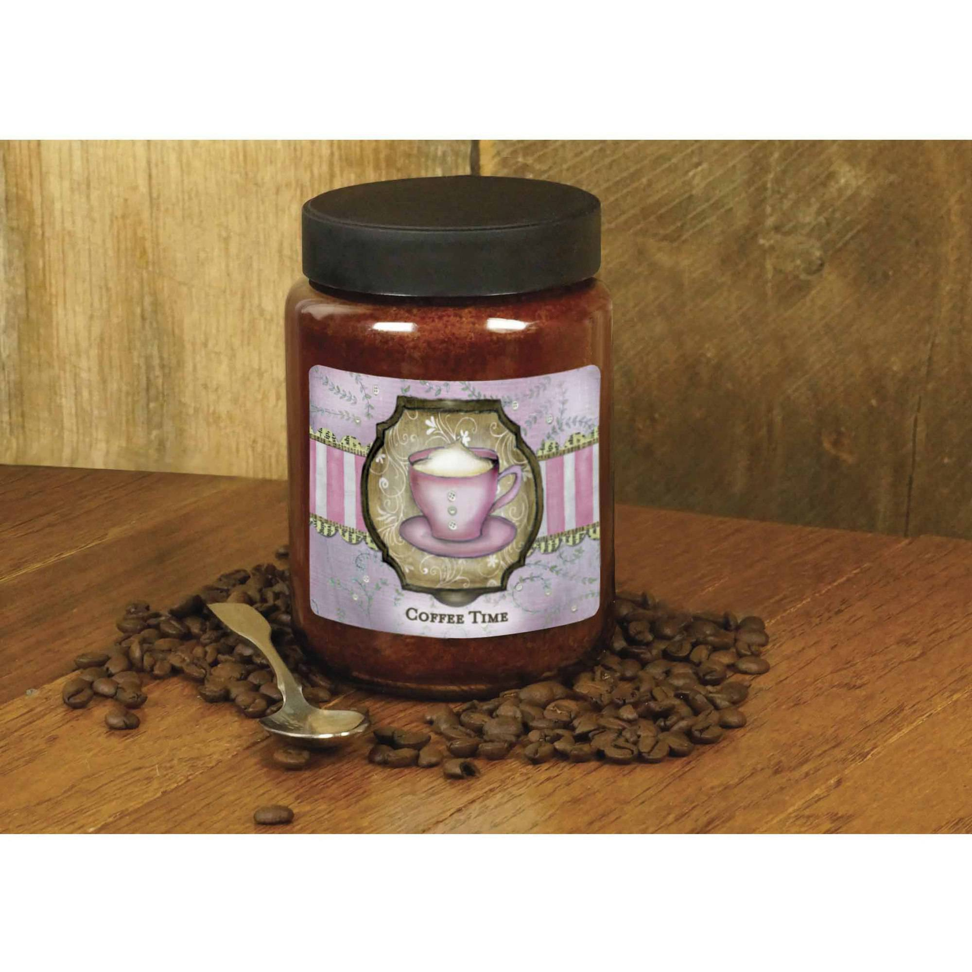 LANG Coffee Time 26-Ounce Jar Candle, Scented with Espresso, Coconut, Chocolate and Vanilla