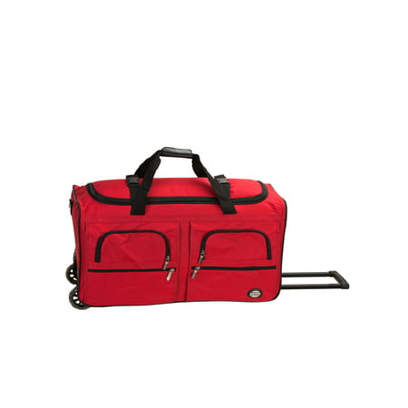 """Rockland 36"""" Rolling Duffel Bag - Red"""