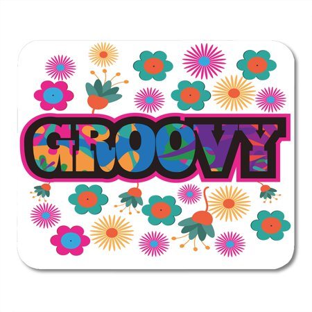 SIDONKU Orange 1960S Sixties Mod Pop Colorful Groovy Text Purple 1970S 60S Mousepad Mouse Pad Mouse Mat 9x10 inch - 60s Mod Outfits