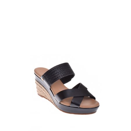 Mid Wedge (UGG Adriana Mid Wedge Sandal - Black )