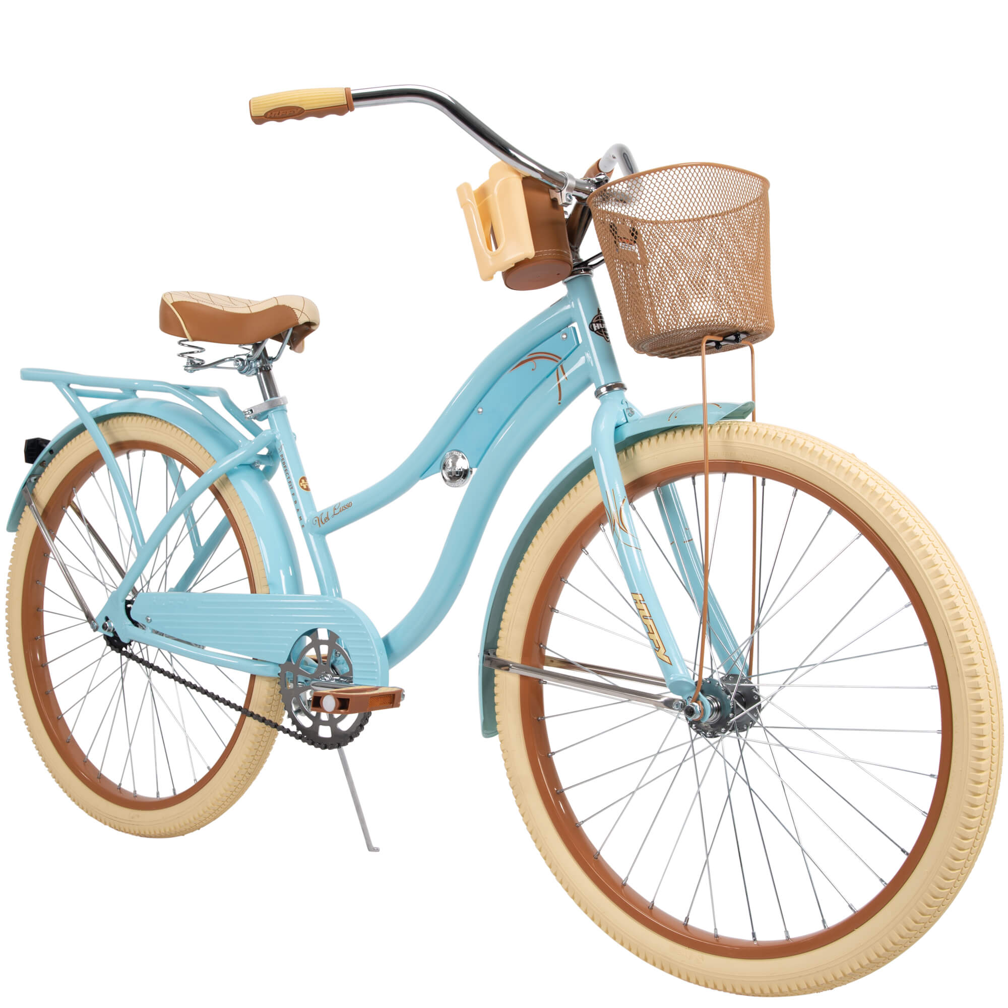 "Click here to buy Huffy 26"" Womens Nel Lusso Cruiser Bike with Perfect Fit Frame, Blue by Huffy."