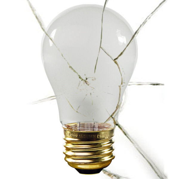 Shatter Resistant, 40W, A15, Silicone Coating, 130 Volt, Appliance Light Bulb, Satco S4881