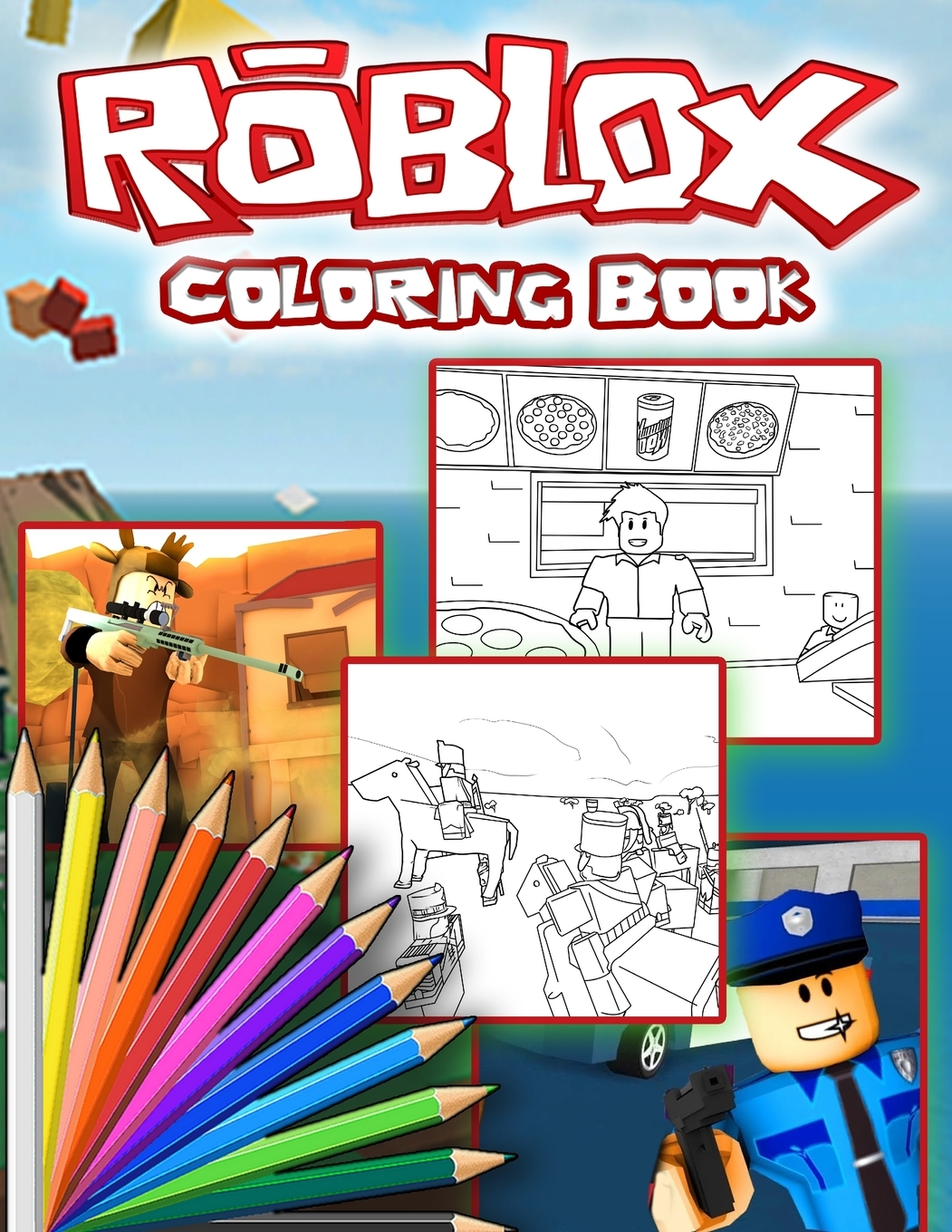 Roblox Coloring Book: Roblox Jumbo Coloring Book For all ...