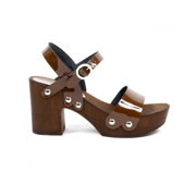 V 1969 Italia Womens Ankle Strap Sandal Brown 38 IT - 8 US
